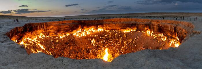 Panorama Darvaza Fire Crater Fototapete
