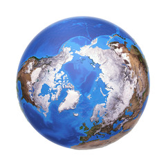 Wall Mural - Arctic from space in winter, with high bump effect