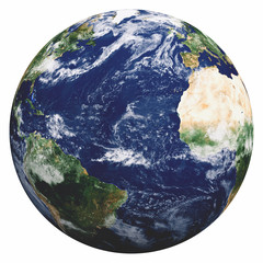 Wall Mural - Planet Earth on white