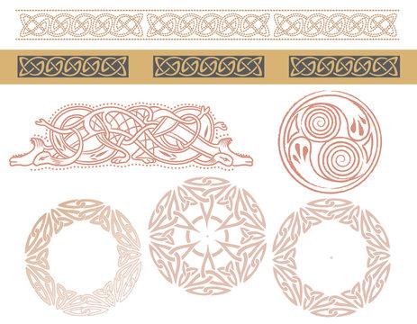 ケルト風文様、装飾の素材