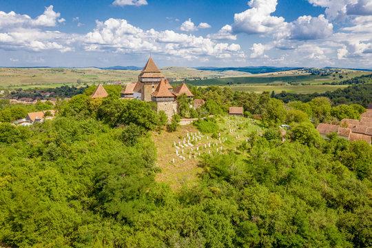 Romania Viscri Village fortified church