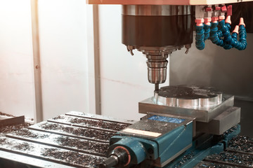 Boring and grinding of metal products on a CNC using a drill