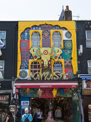 Typical Store in Camden Town in London, England