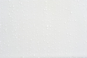 Beautiful water drops at a clean wall in difference sizes from small ones to big ones nice and perfect background for many occasions