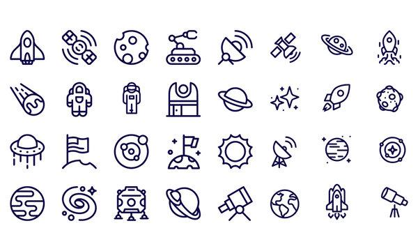 Space - outline icon vector design