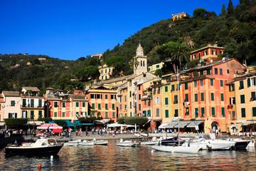 Fotobehang Liguria Portofino (GE), Italy - June 01, 2017: Portofino, Genova, Liguria, Italy