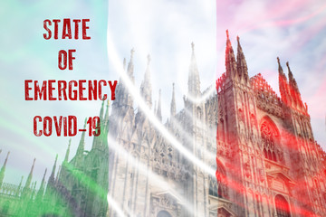 Italy sweeping emergency state restrictions to combat the spread of the virus.