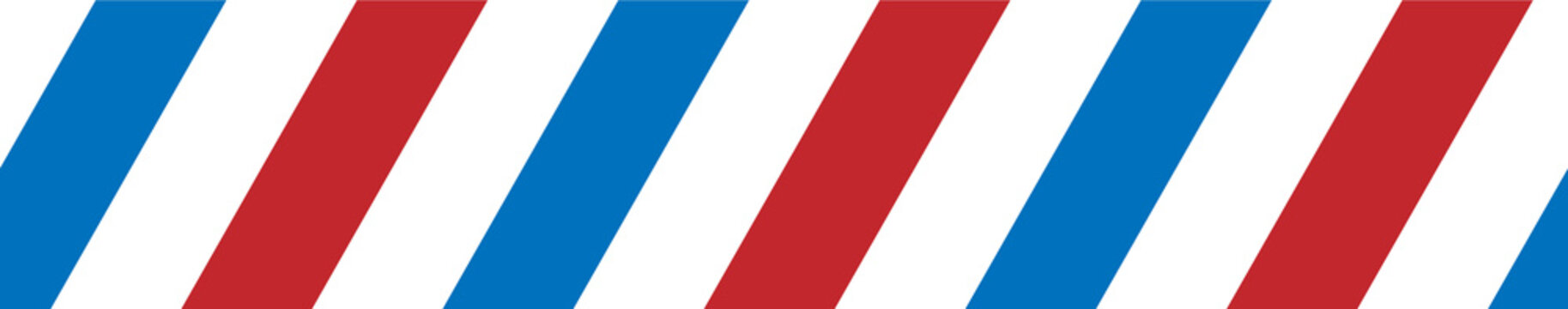 Simple blue white red diagonal stripes pattern - seamless from left to right