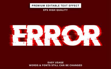Wall Mural - error text effect