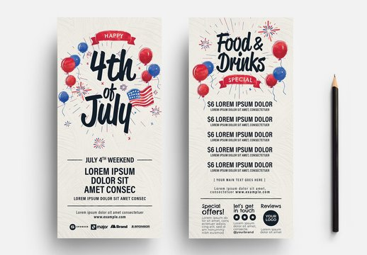 4th of July Party Flyer Layout