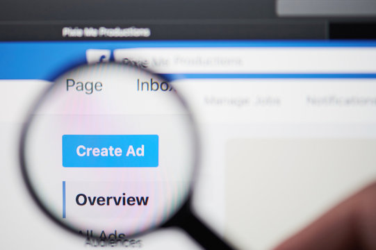 Creating ad on facebook page