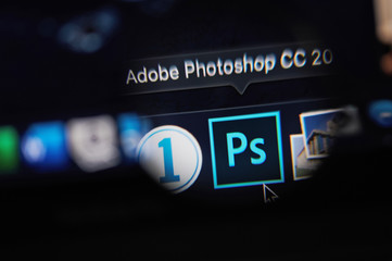 Starting adobe photoshop program