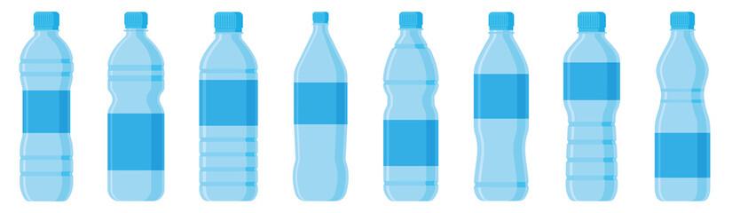 Water bottle flat style set