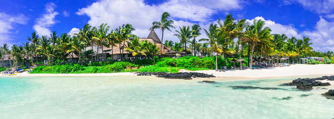 Wall Mural - Best tropical destination - beautiful Mauritius island, Bell Mare beach