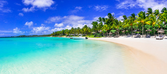 best tropical destination - beautiful Mauritius island, Bell Mare beach