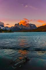 horns of the Torres del Paine in Chile