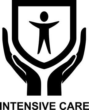 Intensive Care Logo Badge Illustration