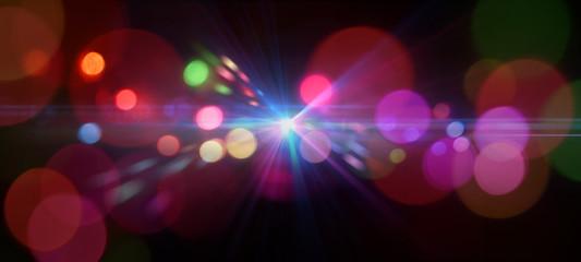 カラフルなイルミネーションライトの背景テクスチャー