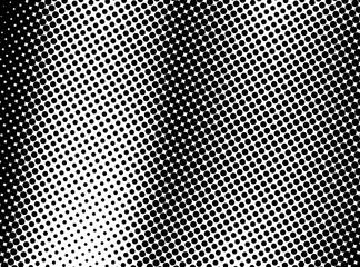 Photo sur Plexiglas Pop Art Halftone Fading Dots Black and White Gradient Background. Gradient Halftone Dots Background. Pop Art Template, Texture. Monochrome Round Black Dots. Pop Art Dotted Spherical Comic Background Overlay