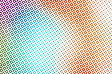Photo sur Plexiglas Pop Art Halftone Fading Dots Bright Multicolor Gradient Background. Gradient Halftone Dots Background. Pop Art Template, Texture. Monochrome Round Black Dots. Pop Art Dotted Spherical Comic Background Overlay