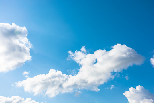 gorgeous cloudscape in springtime. weather background with dynamic cloud arrangement on a blue sky. sunny and windy day, good weather forecast concept