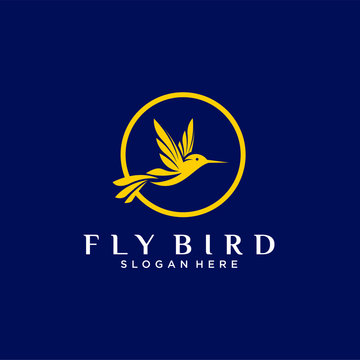 Bird fly icon logo design graphic vector download