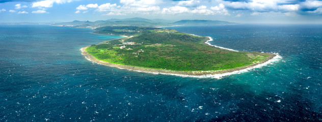 aerial view  of  kenting national park and  southernmost Point of Taiwan