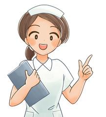 笑顔の看護師さんのイラスト4
