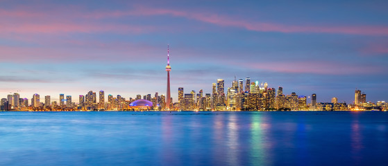 Fotomurales - Toronto city Skyline at sunset Canada