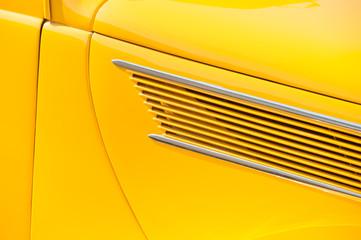 Wall Mural - bright yellow classic vehicle door panel