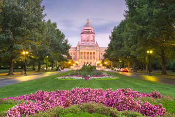 Fototapete - Kentucky State Capitol at Dusk