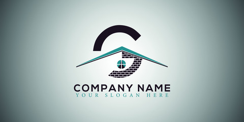 G real estate home construction letter logo design vector