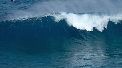Wall Mural - Giant ocean wave breaks at the famous Jaws (Peahi) surf spot in Maui, Hawaii