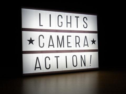 LED light box lights camera action sign