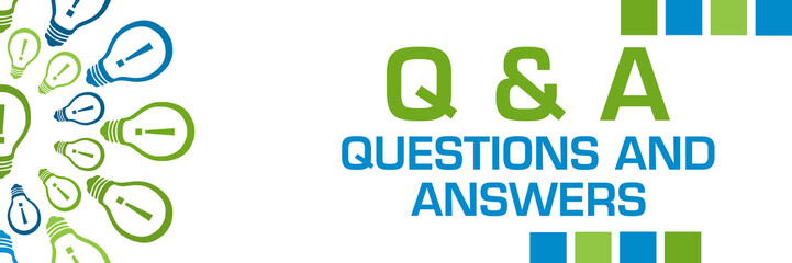 Q And A - Questions And Answers Green Blue Bulbs Circular Horizontal