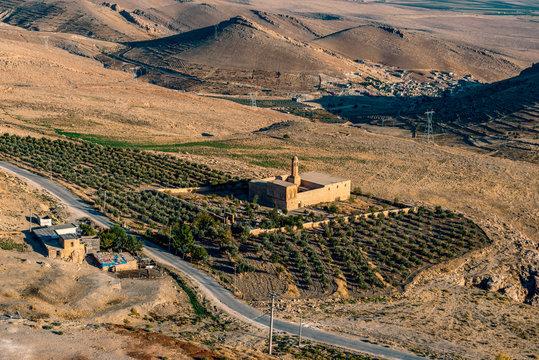 Artuklu, Mardin / Turkey June 10, 2018. Mor Mihail Church ( Mihayel Kilisesi ) and Burc Monastery in Mardin.