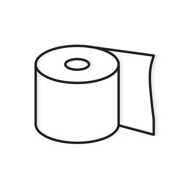 roll of toilet paper icon- vector illustration