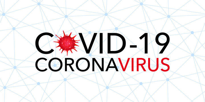 Covid 19, pandemic coronavirus, virus symbol. Covid-19 global connection warning vector illustration on a white background