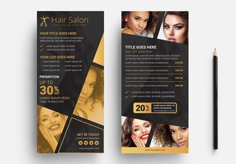 Hair Salon Card Layout