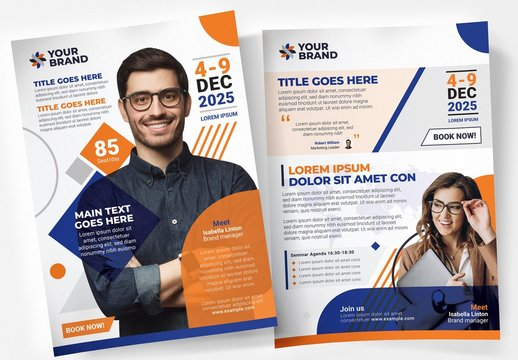Corporate Business Event Poster Layouts