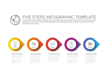 Five Steps Process Infographic Layout