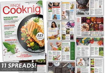 Cooking Magazine Layout