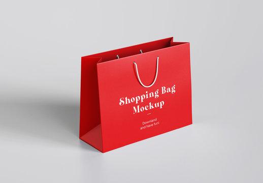 Shopping Bag with Handles Mockup