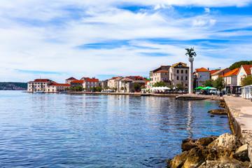 Traditional beautiful coastal town Kastela in Croatia. Kastel Novi fishing village