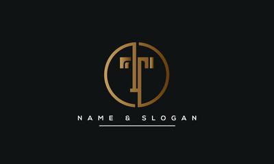 Fototapeta T ,TT  Letter Logo Design with Creative Modern Trendy Typography obraz