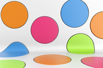 Fotoväggar - Colorful Spots Abstract Design Background