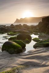 Wall Mural - Nanjizal Beach Sunset Cornwall England UK