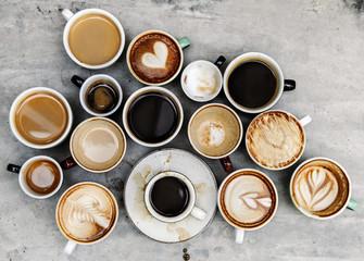 cups of coffee Fototapete
