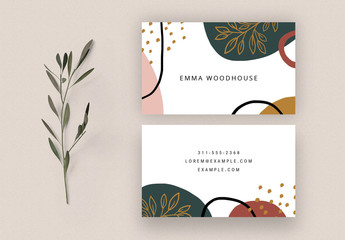Abstract Business Card Template Layout