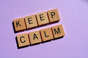 Keep Calm, words